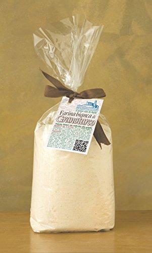 Principato di Lucedio - FARINA BIANCA per POLENTA - 1 kg - Sacchetto in Cellophane con Atmosfera Protettiva