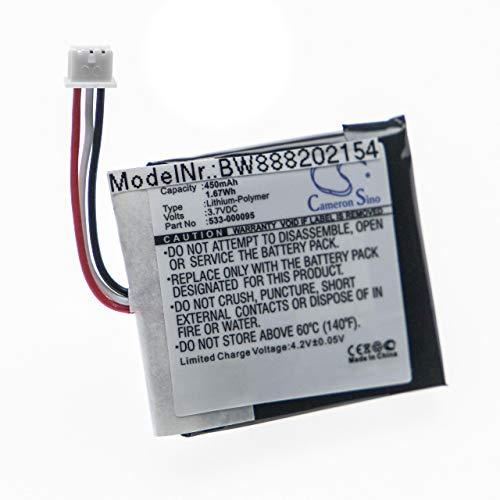 vhbw batería Compatible con Logitech H820e Auriculares inalámbricos Cascos (450mAh, 3,7V, polímero de Litio)