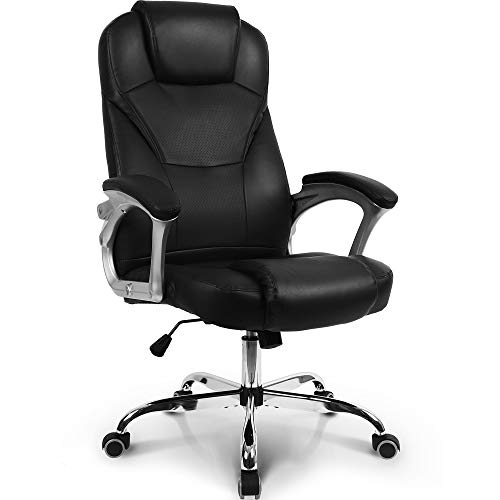 Neo Chair Office Chair Computer Desk Chair Gaming - Ergonomic High Back Cushion Lumbar Support with Wheels Comfortable Black Leather Racing Seat Adjustable Swivel Rolling Home Executive… chair gaming white