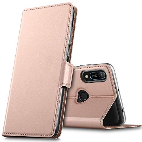 GEEMAI für Honor 8A Hülle, Huawei Y6s Hülle, handyhüllen Flip Hülle Wallet Stylish mit Standfunktion & Magnetisch PU Tasche Schutzhülle passt für Honor 8A Smartphone, Rosegold