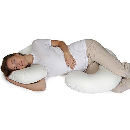 Supportiback Cuscino di Maternità a Forma di C Terapeutico | Cuscino per gravidanza per l'intero corpo con federa lavabile