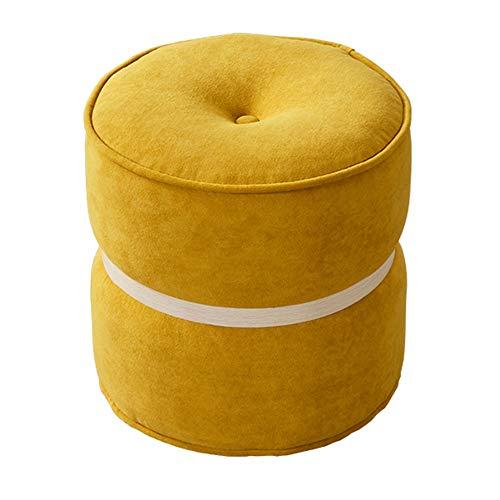 WZNING Nordic Stil Macarons Kleine runde Hocker Kreative Schuhe Bench Stoff Sofa Hocker (Color : Jellyfish, Size : 34 * 32cm)