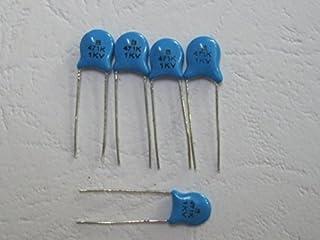 200 Pcs Ceramic Disc Capacitors 1000V(1KV) 471pF 5mm Blue