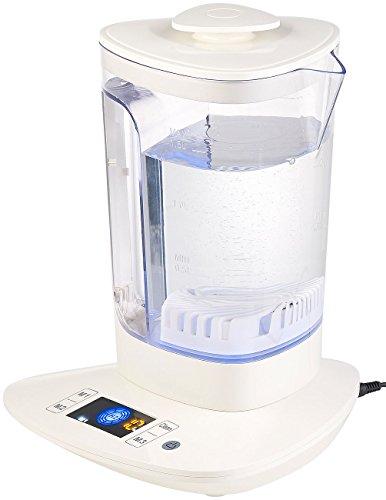 Rosenstein & Söhne Wasserionisierer: Wasserstoff-Ionisator für Trinkwasser, LCD-Display, 1,5 l (Wasseraufbereitung)
