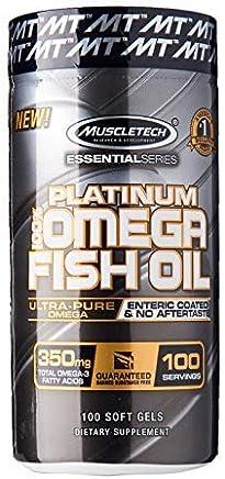 Muscle Tech Essential Series Platinum Fish Oil - 100 Capsules