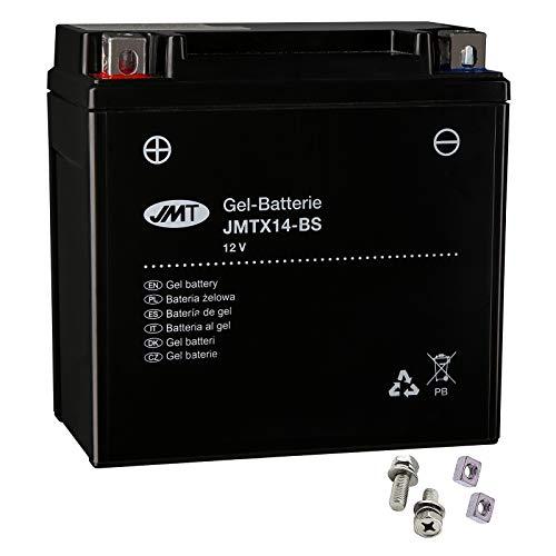 Batería de gel YTX14-BS para AN 650 A Burgman Executive ABS, año de construcción 2004-2012 de JMT