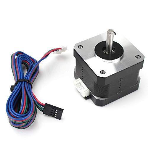 Toaiot ステッピングモーター 3Dプリンターモーター 3Dプリンターステッピングモーター nema17 と39.3インチ/1m ケーブル 42-34 モーター 2フェーズ4ワイヤー1.8度 1.5A 3Dプリンター押出機用 3Dプリンター用 Reprap Makerbot CNC CR-10 10S Ender 3 / Pro Ender 5 Prusa i3 Monopriceの交換