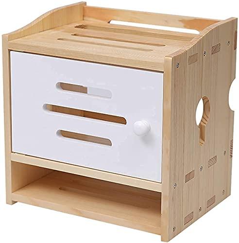 Caja de administración de cables, estante de pared de almacenamiento enrutador, estante flotante enrutador enrutador enrutador enrutador de enrutador de almacenamiento de caja de almacenamiento Caja d
