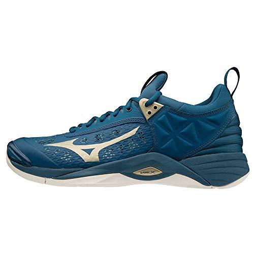 Mizuno Unisex Momentum buty do siatkówki, Hydro 8382c Legionblue - 43 EU