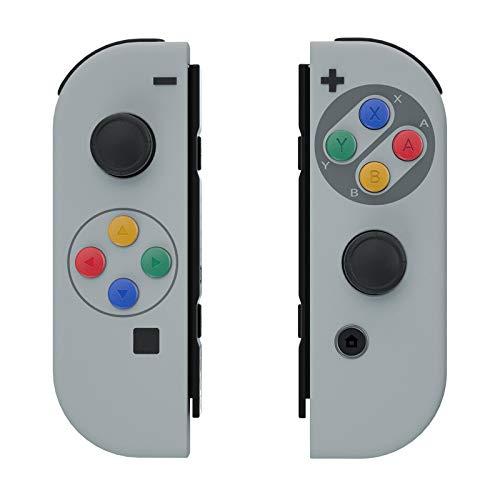 eXtremeRate Cover Joycon Scocca Guscio Custodia Case Grip DIY Ricambio per Nintendo Switch Joy-Con Controller(Stile SFC SNES Classic EU) con Pulsanti-Joycon NON Incluso