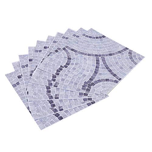 YYRL Etiqueta de la Pared 10 Uds 15x15 cm Textura Clara Antideslizante extraíble Impermeable azulejo Pegatina Pared decoración del hogar