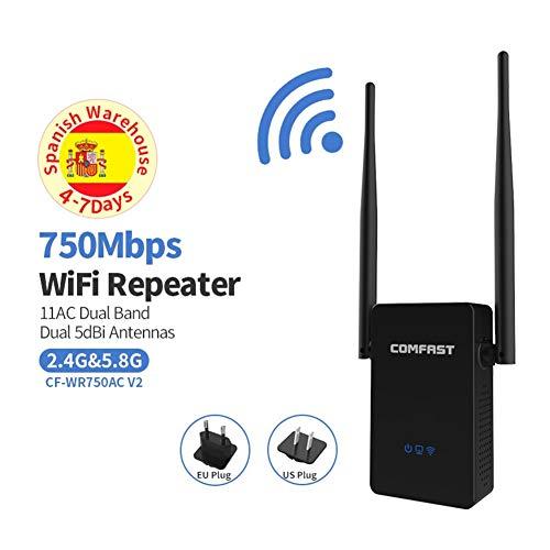 Wireless-N WiFi Repetidor de Largo Alcance 750Mbps Router WiFi de Doble Banda Router WiFi 5 GHz + 2.4G comfast Wi fi Extensor de Alcance Amplificador