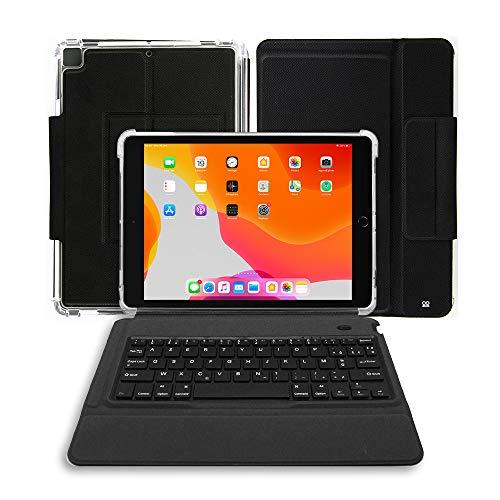 Ibroz Etui Cover noir avec Clavier Bluetooth sans fil français AZERTY pour iPad Classic 10,2'
