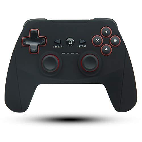 Maegoo Mando PC, Mando PS3 2.4G Inalámbrico Mando PC Gamepad Joystick Recargable con Vibración Shock para Playstation 3 y PC Windows 10 8 8.1 7 XP