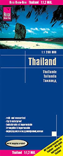 Reise Know-How Landkarte Thailand (1:1.200.000): reiß- und wasserfest (world mapping project)