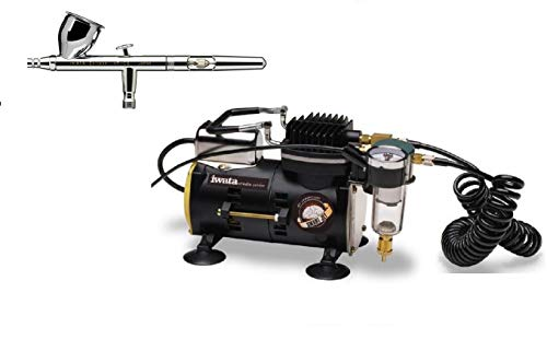 Iwata Eclipse HP-CS Airbrushing System with Sprint Jet Air Compressor