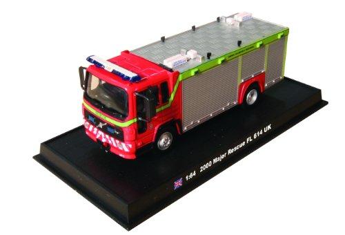 Major Rescue FL 614 UK - 2000 diecast 1:64 fire truck model ( ) by Unknown - Amercom SF-24