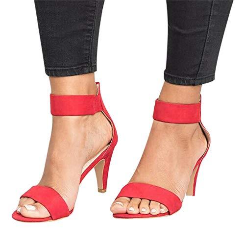 lefeindgdi Tacones bajos clásicos de una sola banda de tobillo zapatos de...