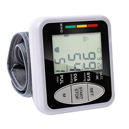 Roeam Tensiometro de muñeca,Tensiómetro Digital para muñeca con Gran Pantalla LCD,2 * 99 Memoria y Indicador de 3 Colores