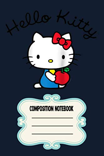 Hello Kitty Retro Logo Raglan Baseball JL Notebook: 120 Wide Lined Pages - 6' x 9' - College Ruled Journal Book, Planner, Diary for Women, Men, Teens, and Children