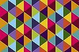Vilber New Look Rombo Alfombra, Vinilo, Multicolor, 153x230x0.2cm