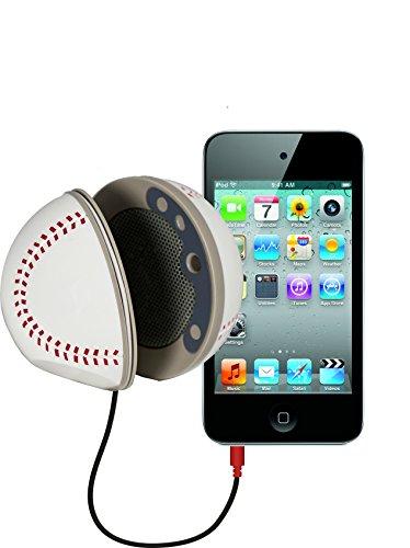 SoundLogic XT Rechargeable Folding Mini Portable Sports Ball Speaker, Baseball