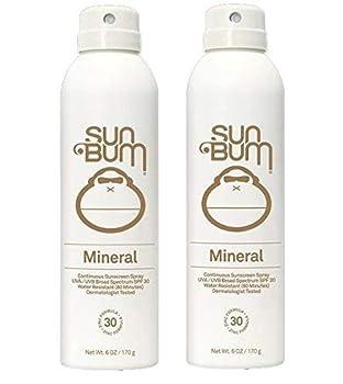 Sun Bum Mineral Sun Care  2 Pack Mineral Sunscreen Spray Spf 30