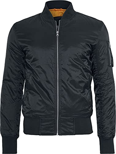 Urban Classics Basic Bomber Jacket, black, M para Hombre