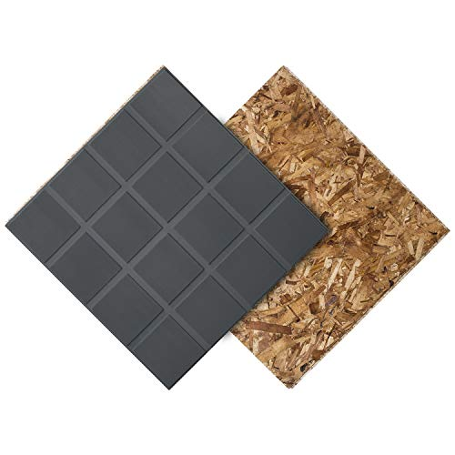 DRICORE Subfloor R+ Insulated Panel, with Air Gap Technology to Help Protect Against Moisture, Water Leaks with Warmer & Soft Finished Floors 23.25' x 23.25' Covers 375 Square Feet (Bundle of 100)