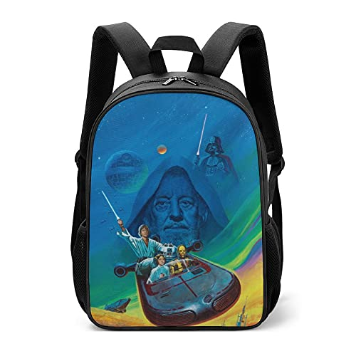 Star Mandalorian Wars - Bolsas escolares infantiles para estudiantes de primaria para aliviar la carga de la protección de la columna vertebral para niños y niñas