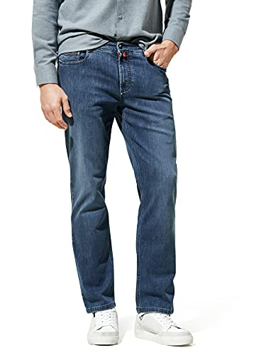 Walbusch Herren Bügelfrei Flex Jeans Modern Fit einfarbig Stone 29
