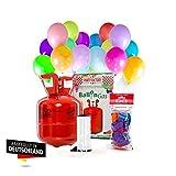 Party Factory Helium Ballongas für 20 Luftballons inkl. 20 Ballons Ballons