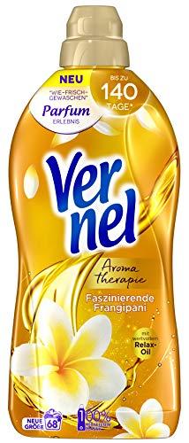 Vernel Aromatherapie Faszinierende Frangipanie, Weichspüler, für einen langanhaltenden Duft und traumhaft weiche Wäsche (68 (1x68) Waschladungen)