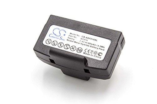 vhbw Batería Recargable reemplaza AKG AP114, AP11A, AP97, AP97A para Auriculares inalámbricos, Cascos (80 mAh, 2,4 V, NiMH)