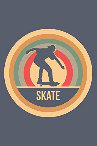 Skate: Retro Vintage Skateboard Notizbuch A5 Liniert 108 Seiten Notizheft - Geschenk für Skater & Skateboarder
