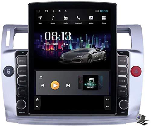 Android 9.1 Pantalla Vertical 9.7 Pulgadas Estéreo Autoradio Multimedia GPS Navegación para Citroen C4 C-Four 2004-2011, Soporte Autoradio/DSP FM/BT Sistema/Control de Volante