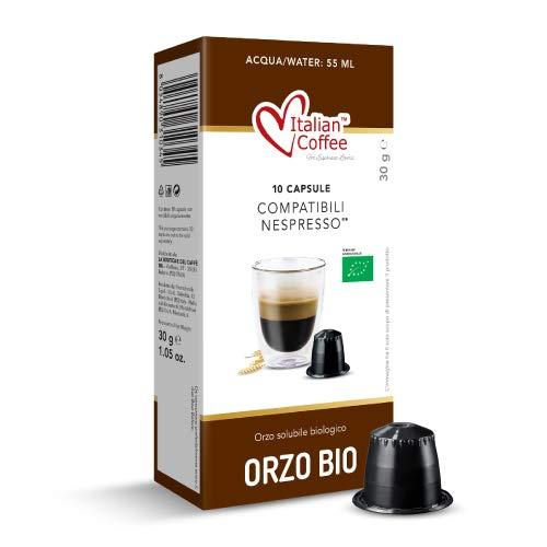 60 Capsule di caffè d'orzo solubile biologico compatibili Nespresso®* Italian Coffee