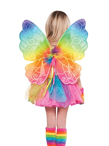 amscan 841824 Rainbow Fairy Wings for Children, 1 Piece