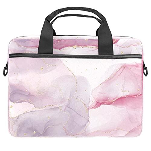 Bolso ligero del ordenador portátil maletín de negocios impermeable bolsa de hombro tinta de alcohol rosa