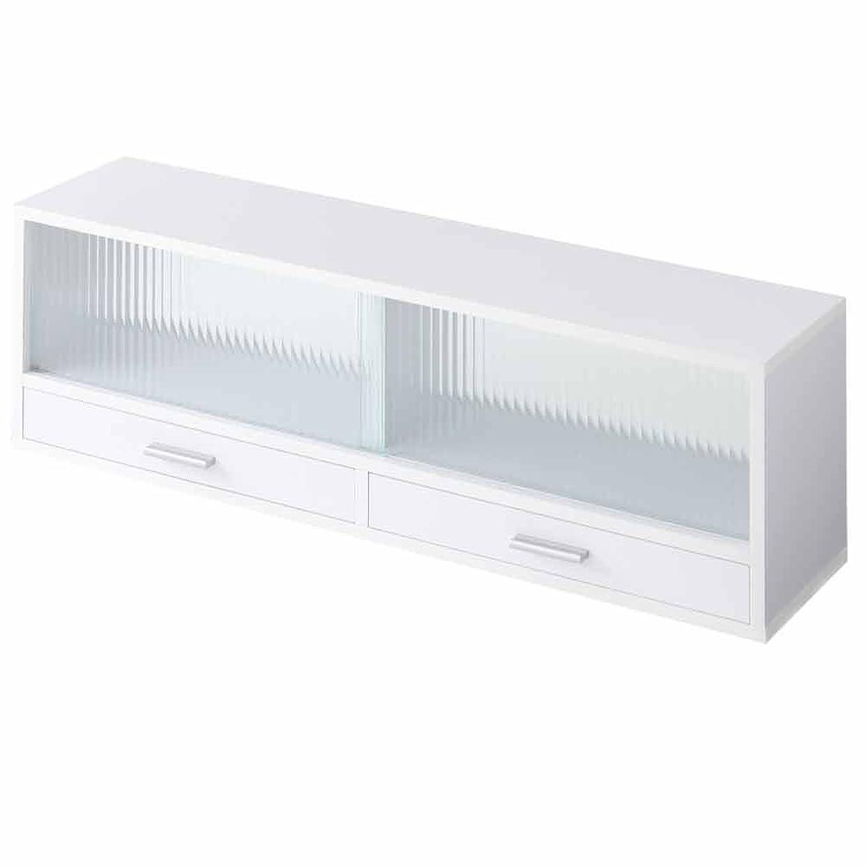 思いやり海外に勝るぼん家具 食器棚 ミニ カウンター上収納 キッチン 収納 ラック 調味料入れ 90cm幅 ホワイト