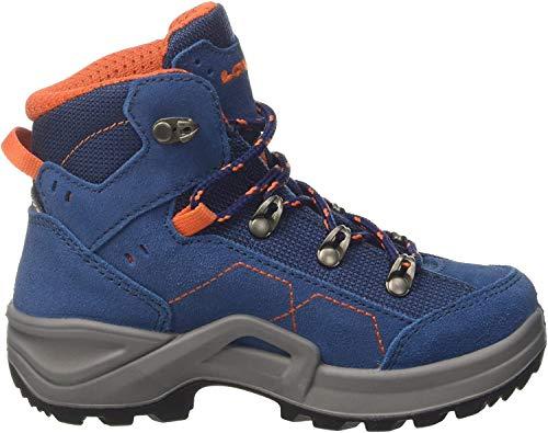 Lowa Unisex-Kinder Kody Iii GTX Mid J Trekking- & Wanderstiefel, Blau (Blue/orange 6021), 34 EU