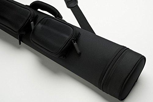 Cuel Billard-Köcher Sport schwarz 2/4 für Pool-Billard-Queues, mit Schultergurt, Tragegriff und zwei Seitentaschen für Billardzubehör