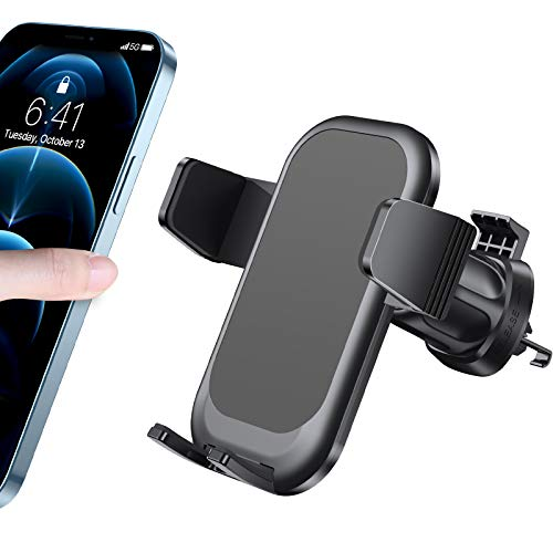2021 Upgraded Diaclara Phone Holder for Car Car Vent Phone Mount with Metal Clip Press Design for Easy Clamp/Release Ultra Stable Car Phone Holder Compatible with All iPhone/Android Cellphone