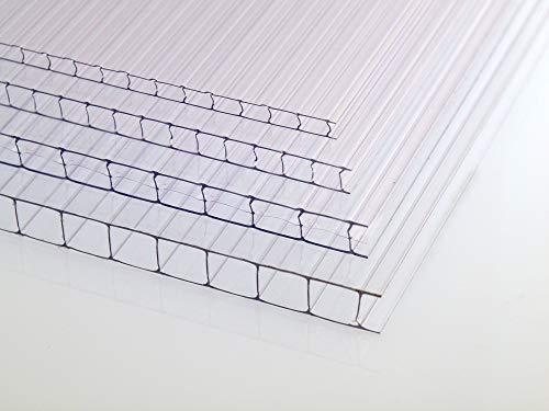 Löffert Kunststoffe Placas de invernadero de policarbonato, placa alveolar, placa hueca, 700 x 1500 mm, 4 mm, 6 mm, 8 mm, 10 mm de grosor
