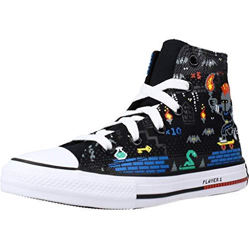 Converse Chuck Taylor All Star Boys Gamer Hi Zapatillas Moda Chicos Negro/Multicolor - 34 - Zapatillas Altas Shoes