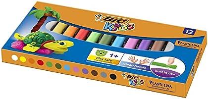BIC Kids Modeling Klei - Verschillende kleuren - Pack van 12 - Herbruikbare ambachtelijke klei plasticine voor kinderen...