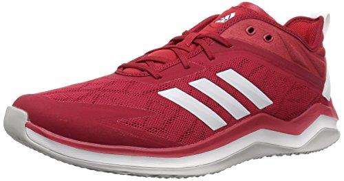 adidas Men's Speed Trainer 4 Baseball Shoe, Power red/Crystal White/Scarlet, 15 M US