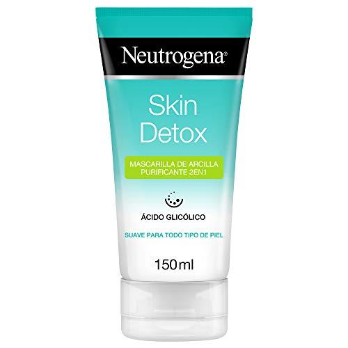 Neutrogena Skin Detox Mascarilla de Arcilla Purificante 2 en 1 - Limpiador Diario y Mascarilla - Todo Tipo de Piel, 150 ml