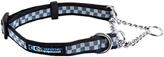 Canine Equipment Ultimate 1-Inch Martingale Dog Collar, Large 16 to 22-Inch, Checkerboard