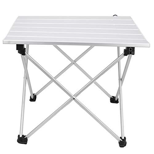 GAESHOW Mesa Plegable Mesa de aleación de Aluminio Mesa de Escritorio Plegable para Acampar al Aire Libre, Pesca(S)